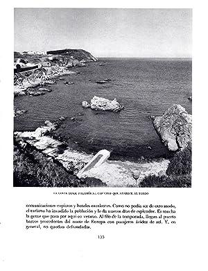 LAMINA 5702: Costa desde Palamos al Cap: Josep Pla