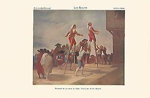 LAMINA ESPASA 1609: Los Zancos de Goya: Varios Autores