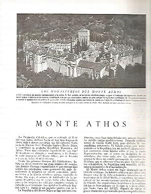 LAMINA 3149: GRECIA. Monassterio de Chiliandari en: Ramon Otero Pedrayo