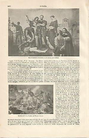 LAMINA ESPASA 10298: Los Comuneros de Castilla: Varios