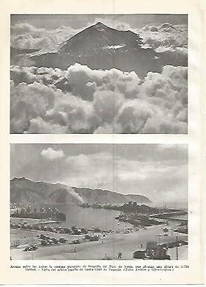 LAMINA GEOGRAFIA 0408: El Teide y puerto: Ricardo Beltran y