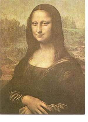 Postal 036034 : Mona Lisa (detail). Leonardo: Varios