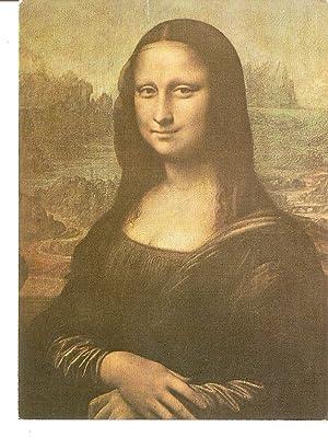 Postal 036030 : Mona Lisa (detail). Leonardo: Varios