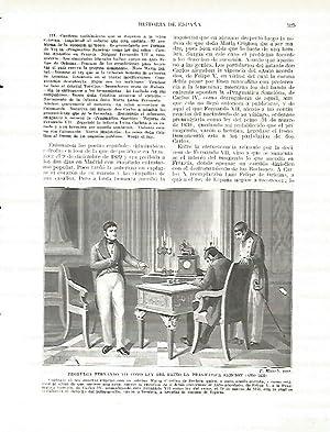 LAMINA 4422: Fernando VII promulga como ley: Manuel Rodriguez Codola