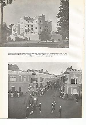 LAMINA GEOGRAFIA 0030: Palacio de Kapurtala y: Ricardo Beltran y