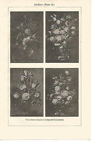 LAMINA ESPASA 12737: Floreros de Juan de: Varios