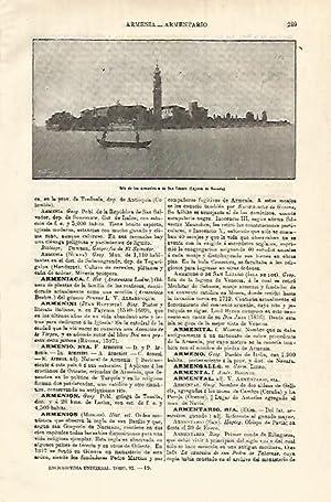 LAMINA ESPASA 12808: Isla de los Armenios: Varios