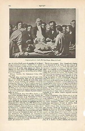 LAMINA ESPASA 5988: Velpeau enseñando por Feyen: Varios Autores