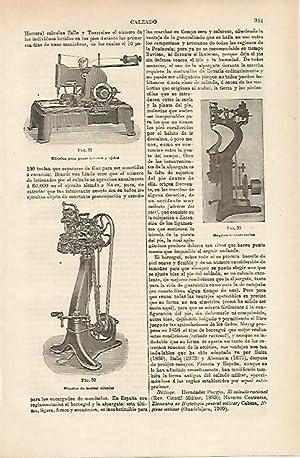 LAMINA ESPASA 14746: Maquina para coser zapatos: Varios
