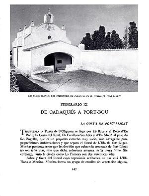 LAMINA 5829: Cementerio de Cadaques en el: Josep Pla