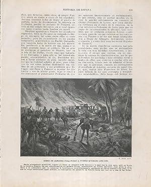 Historia de España lamina 136: Diego de: Varios