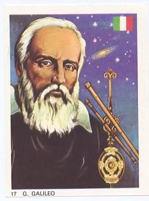 Cromos: Hombres Famosos numero 017: Galileo: Varios