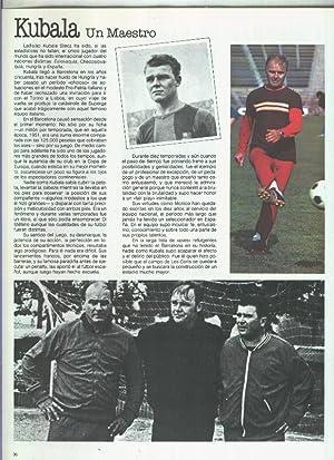 España 1982 lamina 09: Articulo sobre Kubala: Varios