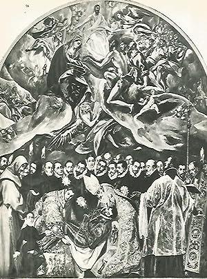 LAMINA 1986: EL GRECO. Entierro del Conde: Harold E. Wethey