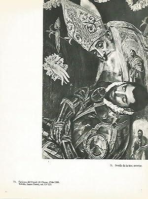 LAMINA 1987: EL GRECO. Entierro del Conde: Harold E. Wethey