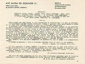 LAMINA 2561: Reparto y criticas de L: Jose Maria Junyent