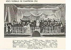 LAMINA 2643: Escena de Els Jocs Florals: Jose Maria Junyent