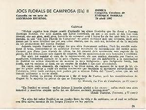 LAMINA 2644: Criticas de Els Jocs Florals: Jose Maria Junyent