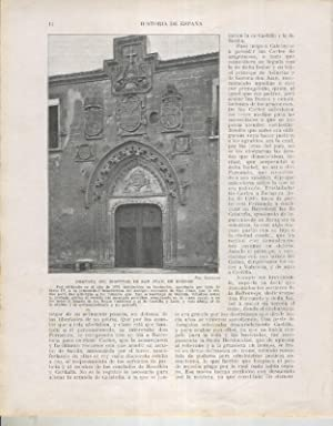 Historia de España lamina 067: Hospital de: Varios