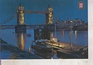 Postal 012724: Vista nocturna de Londres: Varios