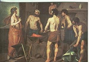 Postal: Escuela Española: Velazquez: La fragua de: Varios