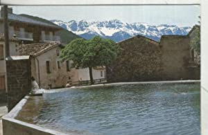 Postal: Montella del Cadi: Plaza del lago: Varios