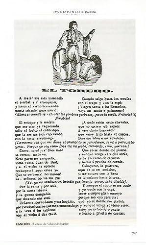 LAMINA COSSIO 51040: Cancion El torero de: Varios
