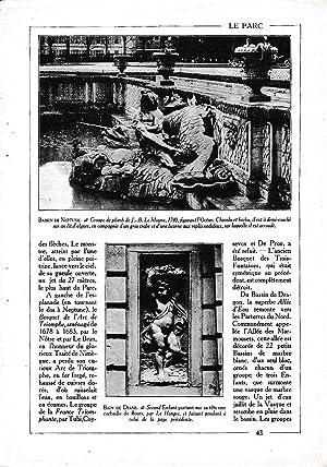 LAMINA 30056: Bassin de Neptune et Bain: Librairie Hachette