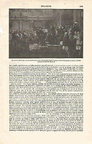 LAMINA ESPASA 21128:Juramento de la Constitucion por: Varios