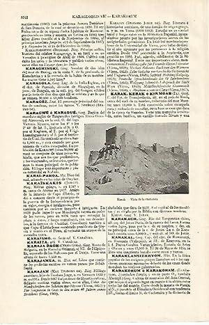 LAMINA ESPASA 21156: Ciudadela de Karak Jordania: Varios