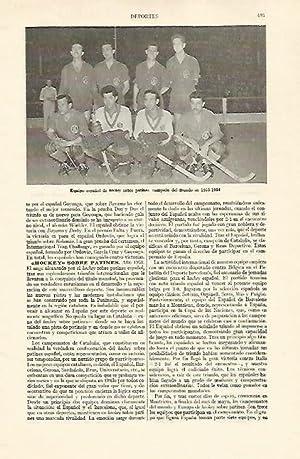 LAMINA ESPASA 22137: Equipo español de hockey: Varios
