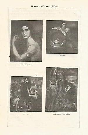 LAMINA ESPASA 14011: Obras pintadas por Julio: Varios