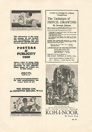 LAMINA PUBLICITARIA 7169: Posters & Publicity 1928: Varios