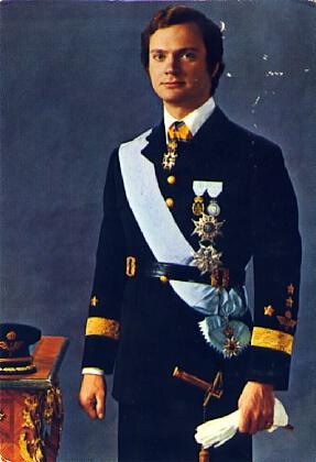 POSTAL 57724: H.M Konungen King of Sweden: Varios
