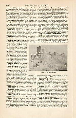 LAMINA ESPASA 6345: Ciudadela de Karak Jordania: Varios Autores