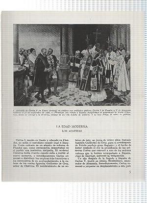 Lamina: Entrada de Carlos V en Yuste
