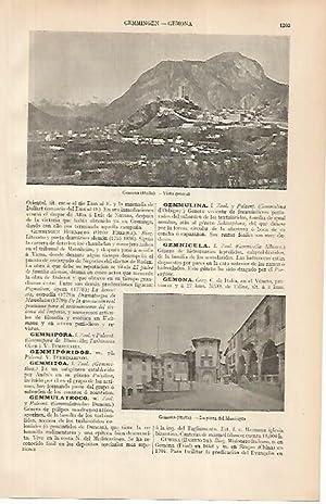 LAMINA ESPASA 24930: Vista de Gemona en: Varios