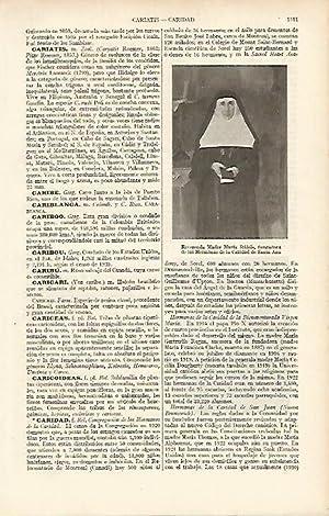 LAMINA ESPASA 8271: Reverenda Madre Maria Rafols: Varios