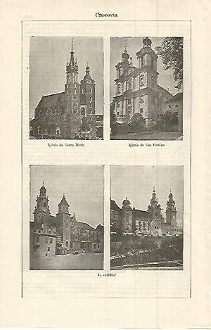 LAMINA ESPASA 15146: Iglesias y Catedral de: Varios