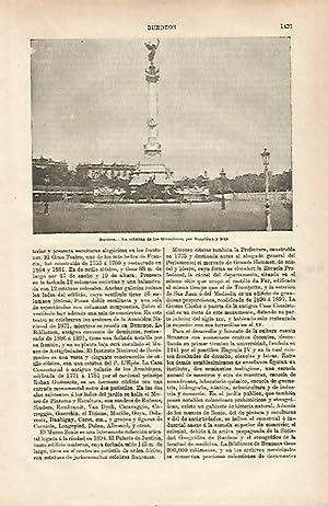 LAMINA ESPASA 25518: Columna de los Girondinos: Varios