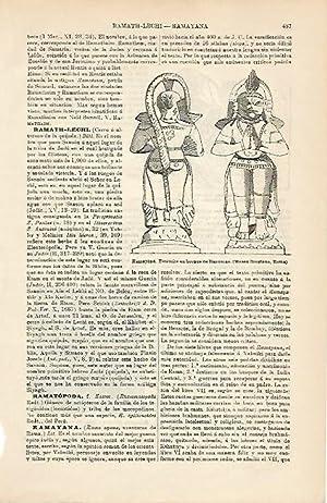LAMINA ESPASA 5038: Hanuman personaje del Ramayana: Varios Autores