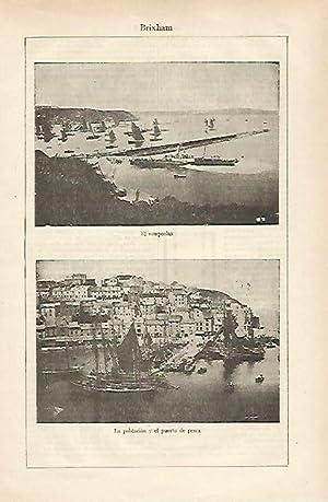 LAMINA ESPASA 25400: Rompeolas y puerto de: Varios