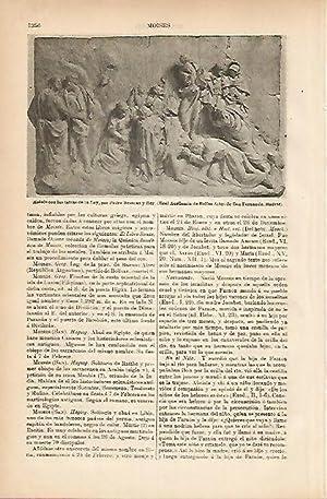 LAMINA ESPASA 5315: Moises con las tablas: Varios Autores