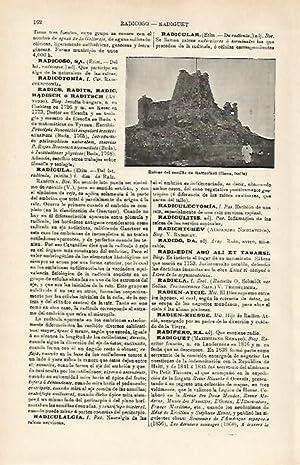 LAMINA ESPASA 15883: ruinas del Castillo de: Varios