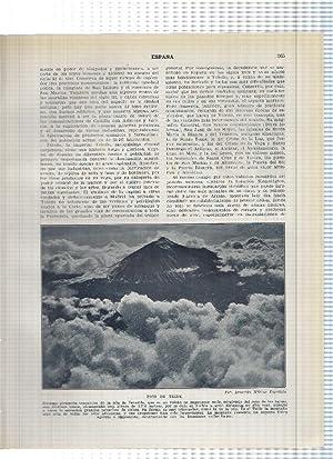Lamina/sheet/feuille numerada 265/266: Pico del Teide, Puerto