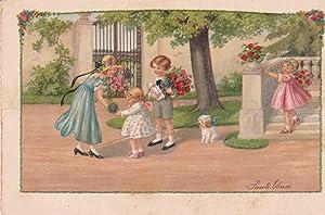 POSTAL 19166: JAN BRUEGHEL: VISTA BOSCOSA CON: Varios