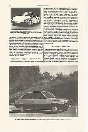 LAMINA ESPASA 31236: Porsche 959 y Renault: Varios