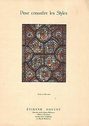 LAMINA 12924: Vidriera del siglo XIII: Etienne Houvet