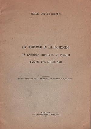 Un conflicto en la Inquisición de Cerdeña durante el primer tercio del siglo XVII: ...