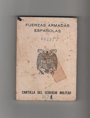 Cartilla del servicio militar. Fuerzas armadas españolas